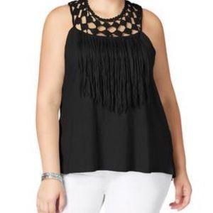 New! Jessica Simpson crochet fringe blouse